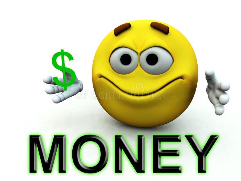 Type heureux 14 du dollar illustration stock