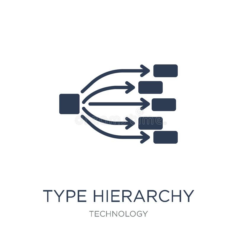 Type hierarchy icon. Trendy flat vector Type hierarchy icon on w royalty free illustration