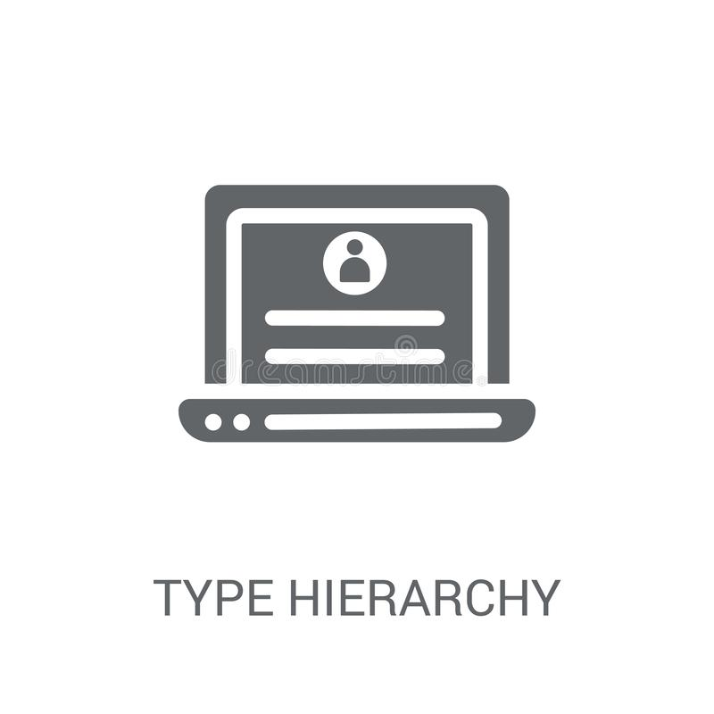 Type hierarchy icon. Trendy Type hierarchy logo concept on white stock illustration