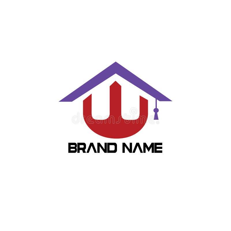 Type immobiliers de logo de W photographie stock