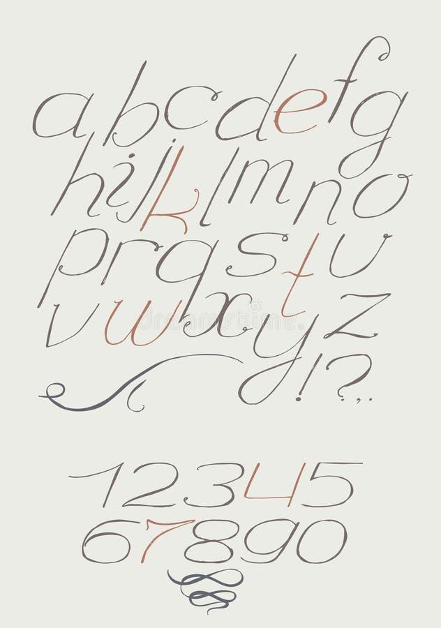Souvent Type Italique Tiré Par La Main Anglais Manuscrit D'a à Z Avec Des  FD95