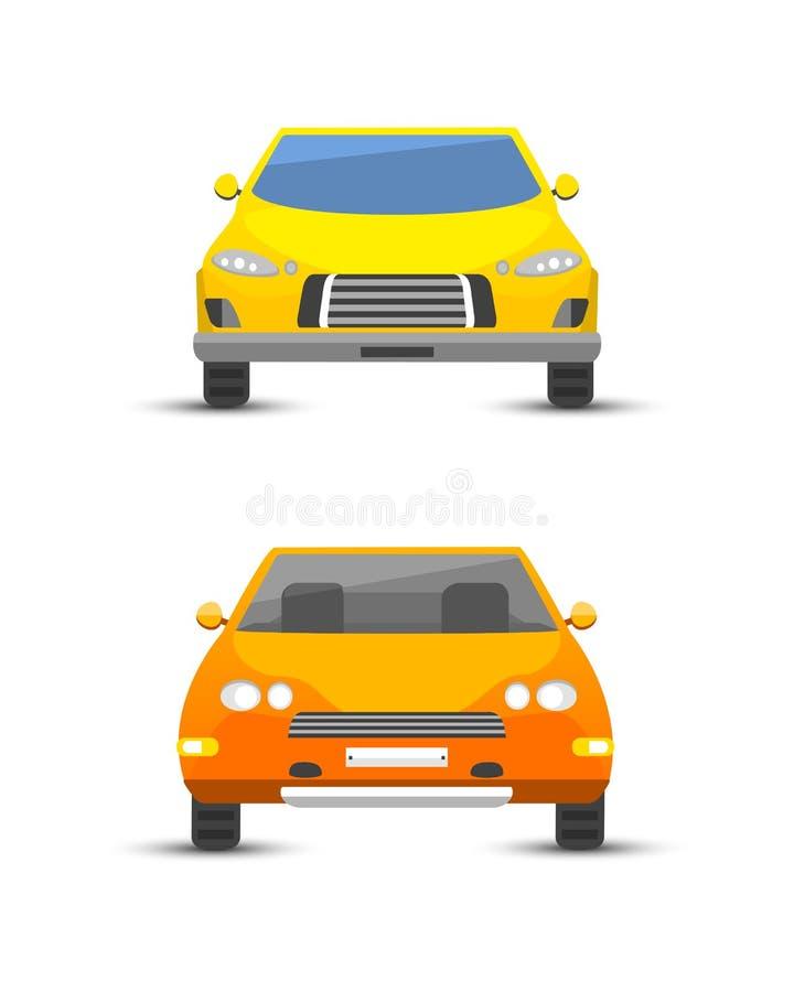 Type jaune plat illustration classique générique de véhicule de voiture d'affaires de vecteur de style de conception d'isolement illustration de vecteur