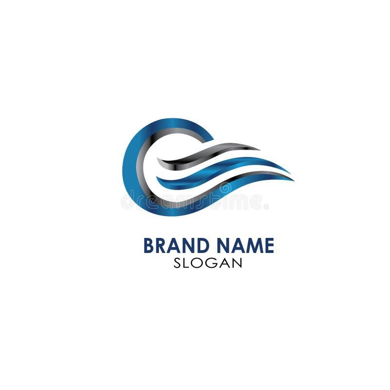 Type métal de logo d'OS moderne images libres de droits
