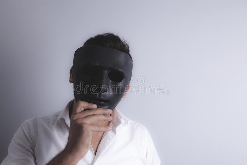 Type masqué noir photographie stock libre de droits
