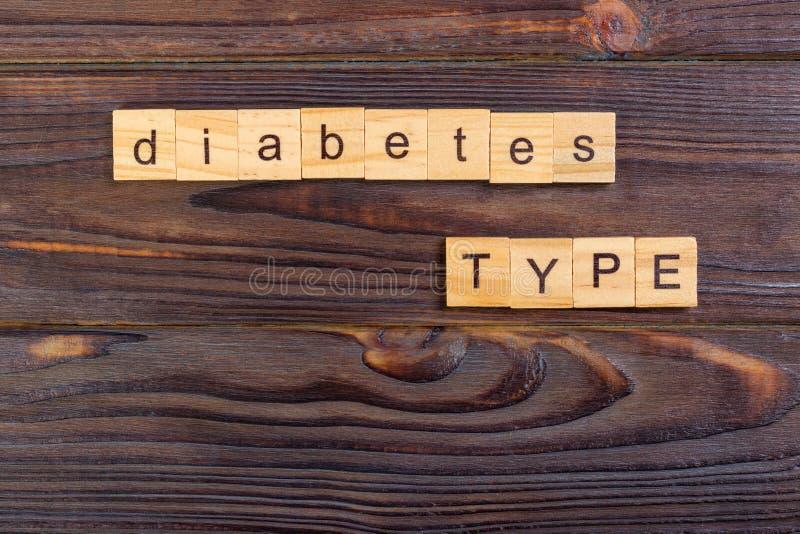 type mot de diabète des textes fait avec les blocs en bois Prévention de diabète de concept image libre de droits