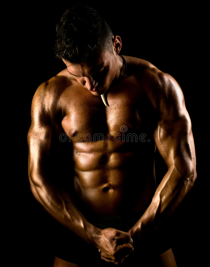 Type musculaire photographie stock