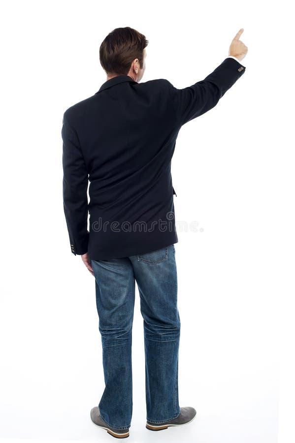 Type occasionnel de pose arrière se dirigeant à l'espace de copie photos libres de droits