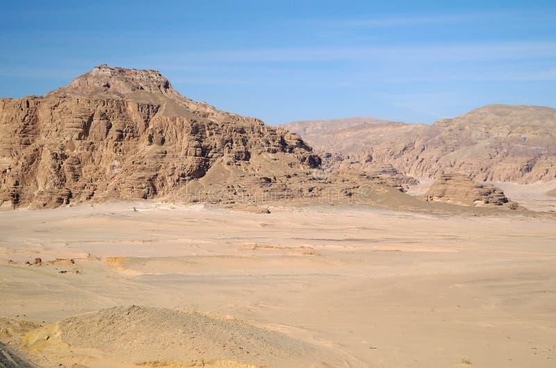 Type op woestijn stock foto
