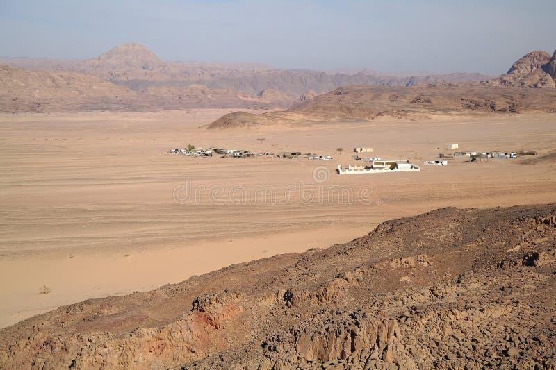 Type op woestijn en bergen, Egypte stock fotografie