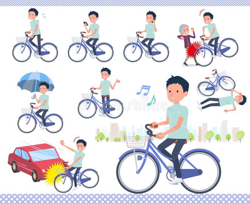 Type plat cycle de men_city de chiroprakteur illustration libre de droits