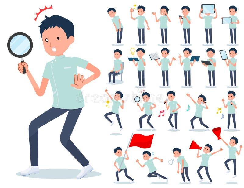 Type plat men_Action de chiroprakteur illustration libre de droits