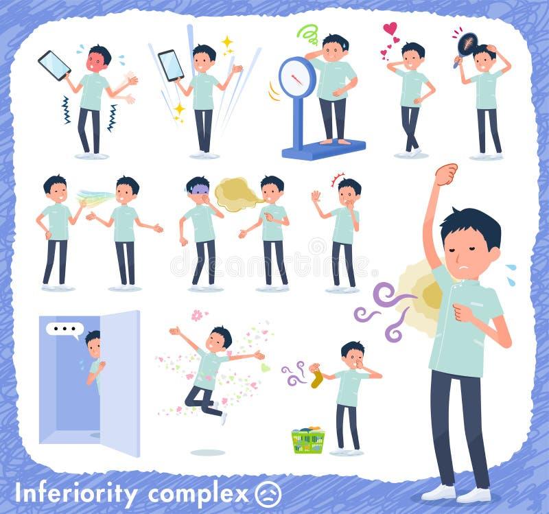 Type plat men_complex de chiroprakteur illustration libre de droits