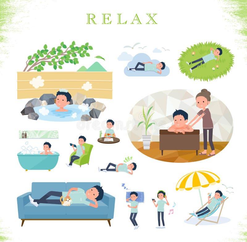 Type plat men_relax de chiroprakteur illustration libre de droits