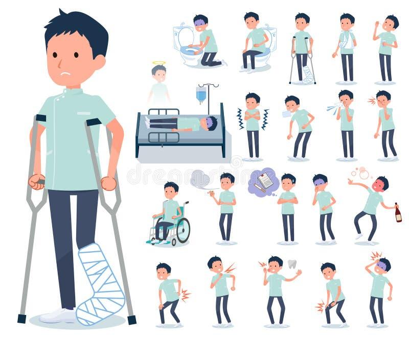 Type plat men_sickness de chiroprakteur illustration libre de droits