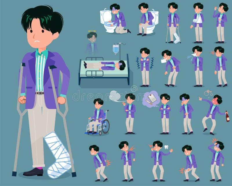 Type plat men_sickness de mode de 90s illustration de vecteur