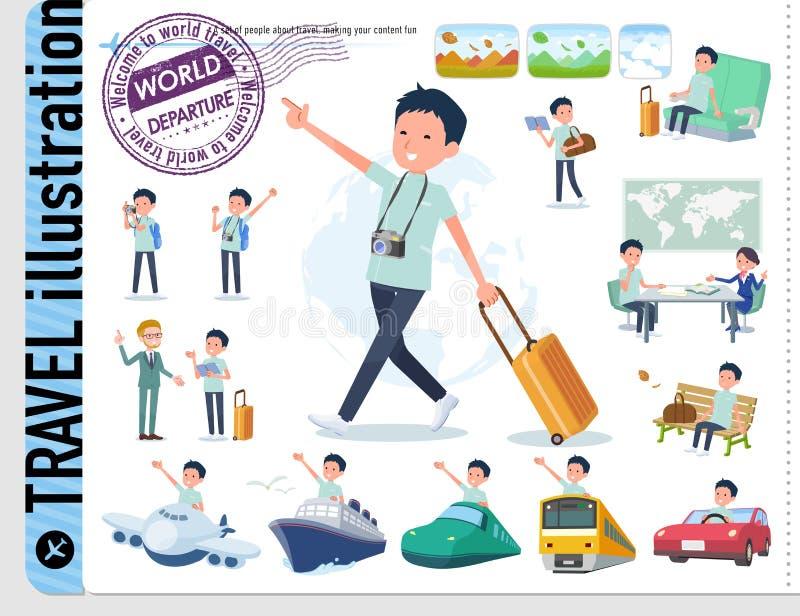 Type plat men_travel de chiroprakteur illustration libre de droits