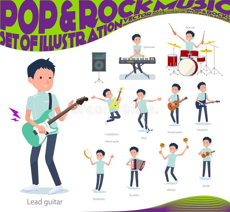 Type plat musique de men_pop de chiroprakteur illustration de vecteur