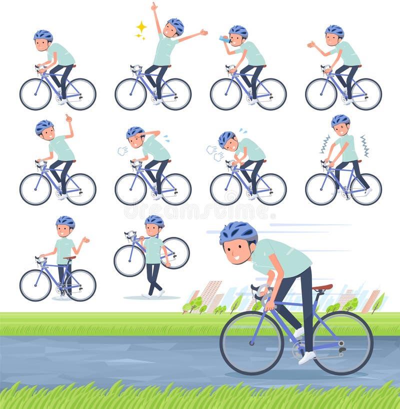 Type plat vélo de men_road de chiroprakteur illustration libre de droits