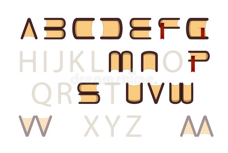 Type police d'ABC de logo de librairie images libres de droits