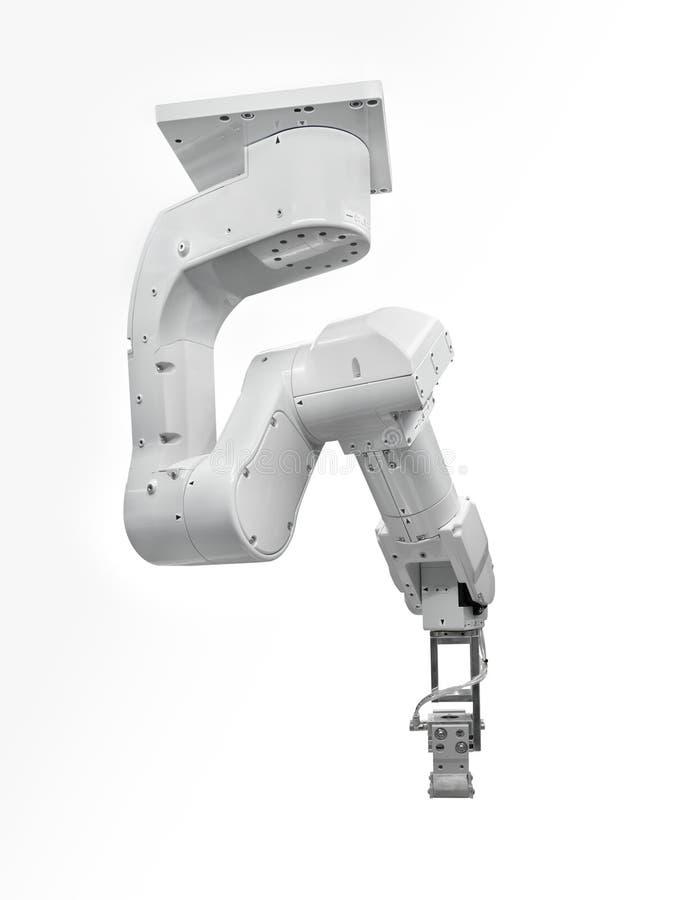 Type robotique de plafond d'industrie d'isolement sur le fond blanc images libres de droits