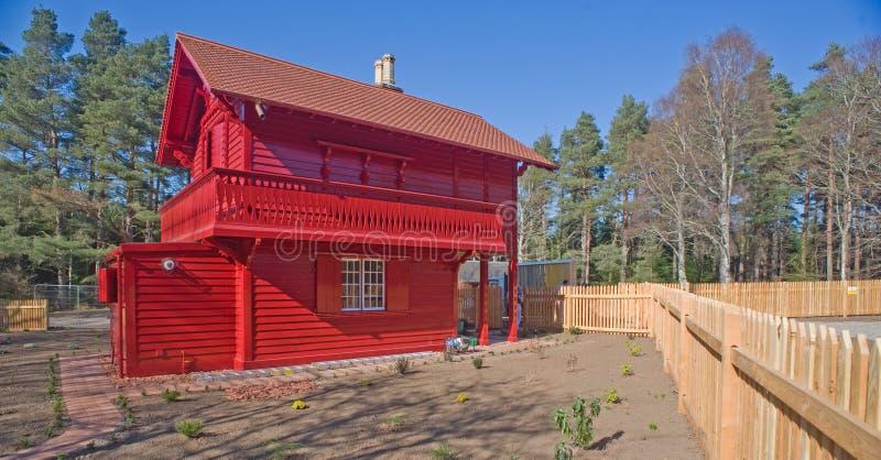 Type rouge de Suisse de maison photo libre de droits