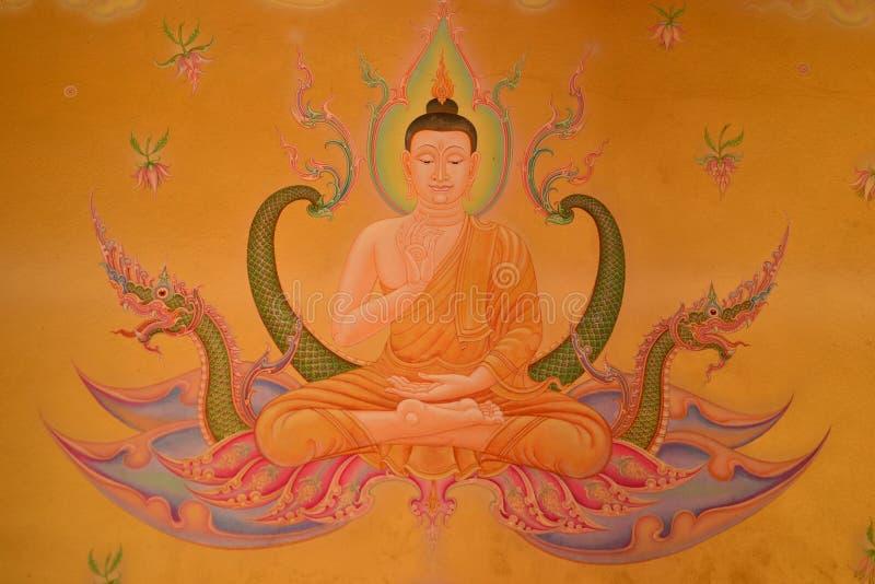 Type thaï mural sur le temple photographie stock libre de droits
