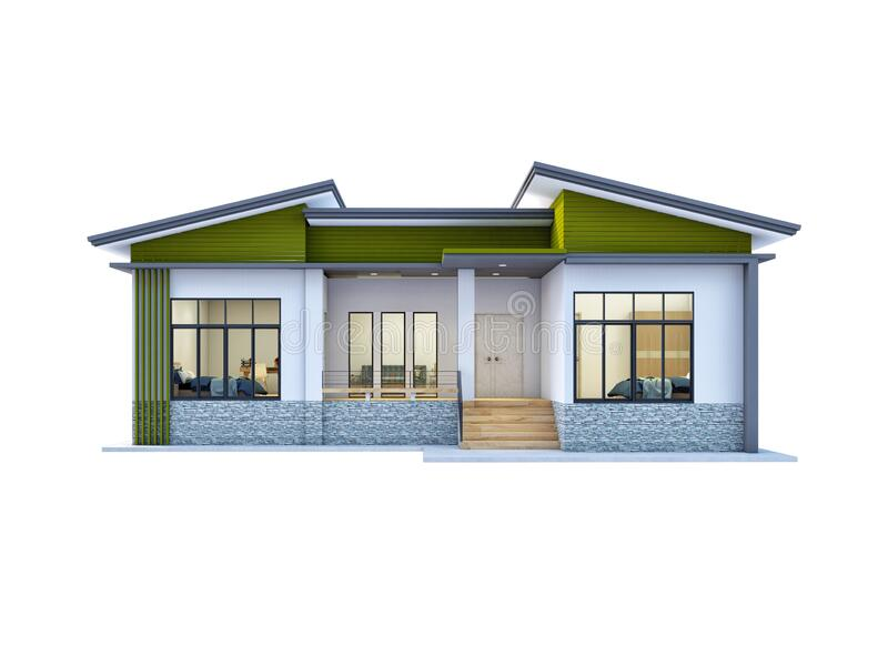 House Thai Style Design With Twin Roof Stock Illustration Illustration Of Type Roof 187100723