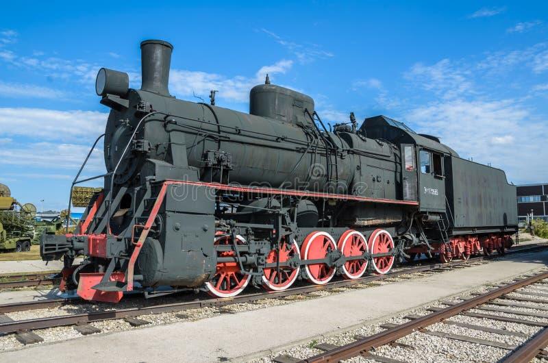 Type van ER van de stoommotor builded het voortbewegingseh2 in Voroshilovgrad, Brjanksk, 305 die eenheden van 1934-1936, in Techn stock foto's
