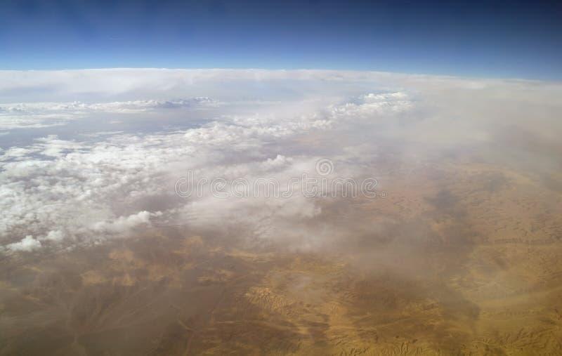 Type van woestijn van lucht, stock foto's