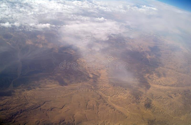 Type van woestijn van lucht, stock foto