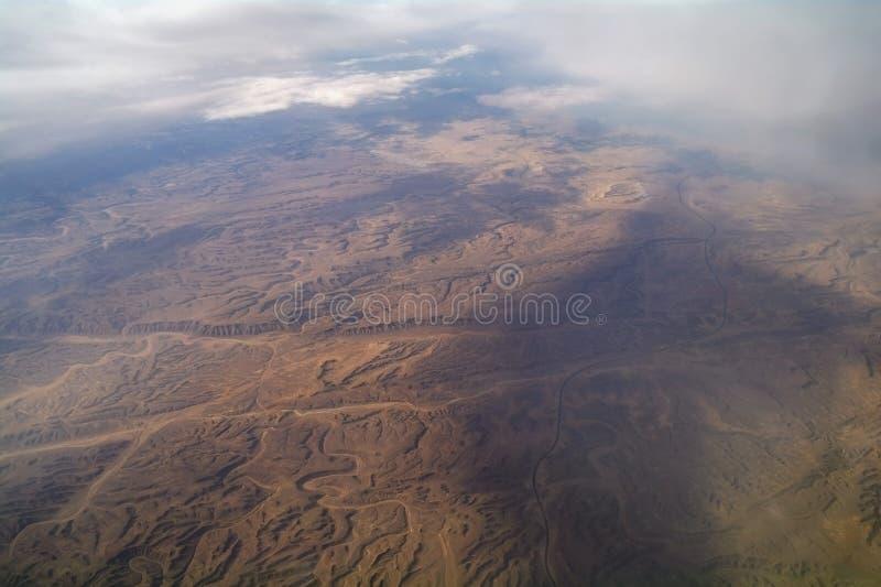 Type van woestijn van lucht, stock afbeelding
