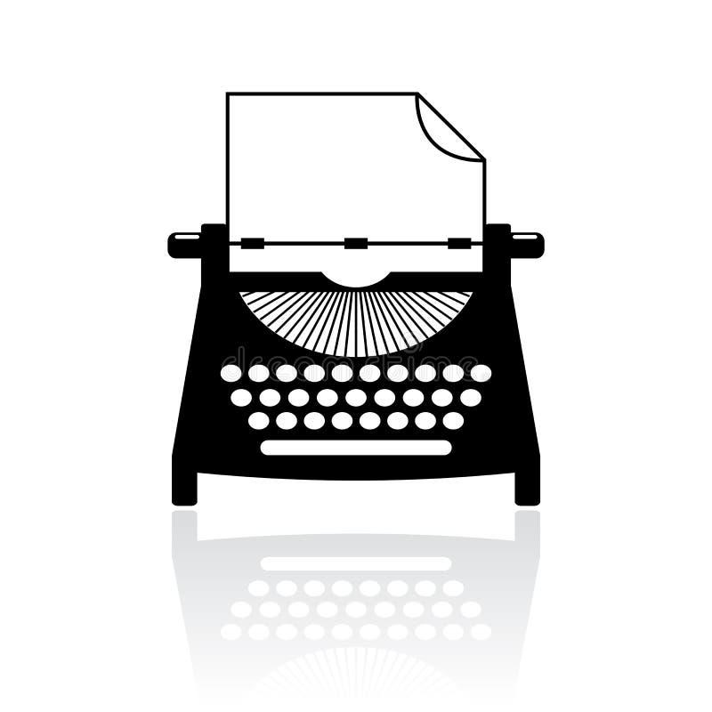 Type writer vector icon vector illustration