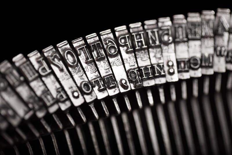 Typebar da letra da máquina de escrever fotografia de stock
