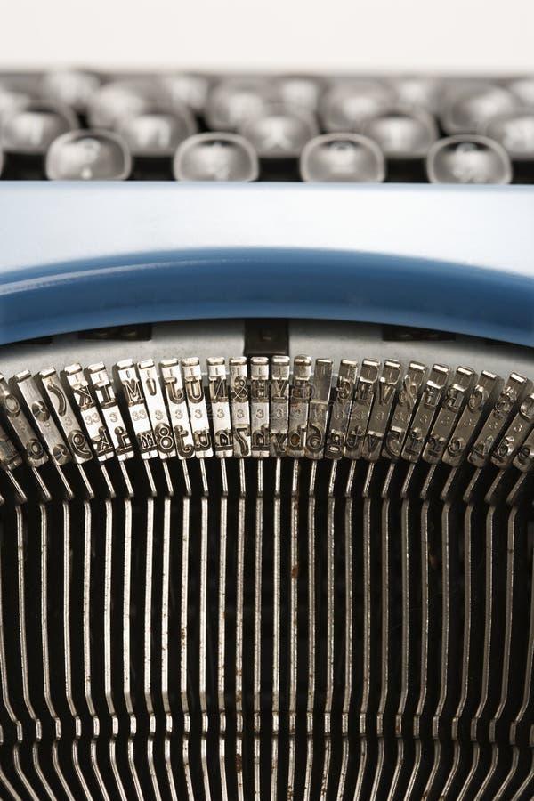 Typebars de machine à écrire. photo stock