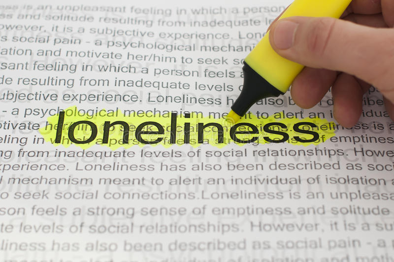 Download Typed Text Loneliness On Paper Stock Image - Image of nostalgia, loss: 22495403