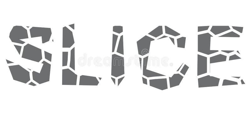 Typeface design slice. Vector isolated typeface design slice vector illustration