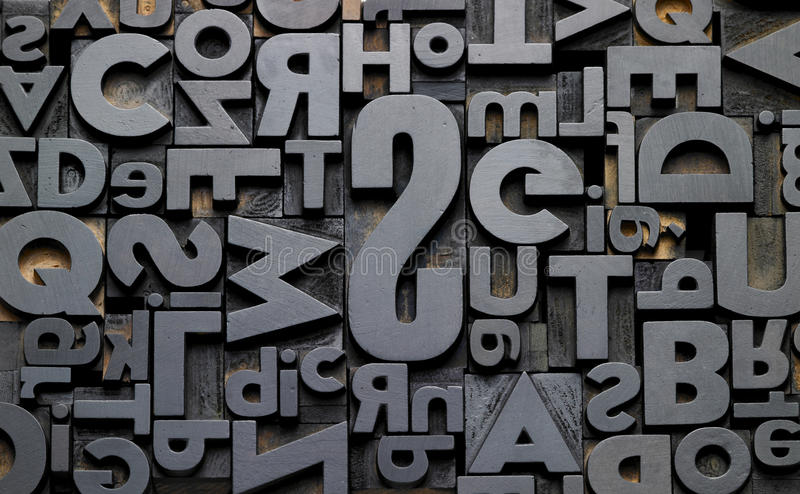 Typefaces In Composition Royalty Free Stock Photo