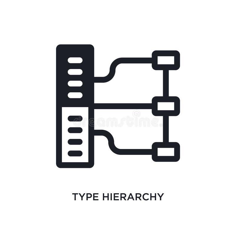 typehiërarchie geïsoleerd pictogram eenvoudige elementenillustratie van de pictogrammen van het technologieconcept symbool van he stock illustratie
