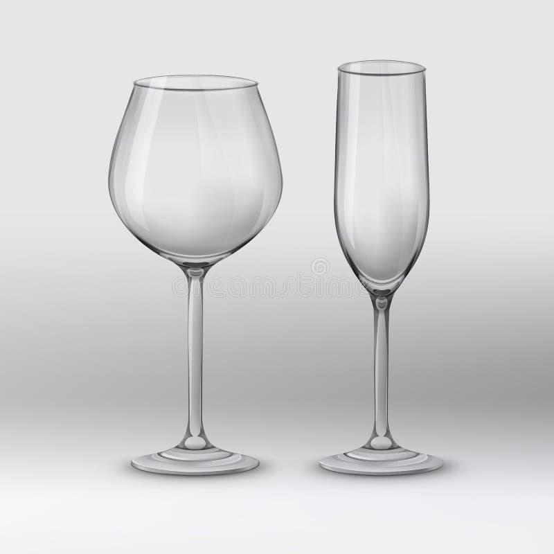 Typer av exponeringsglas royaltyfri illustrationer