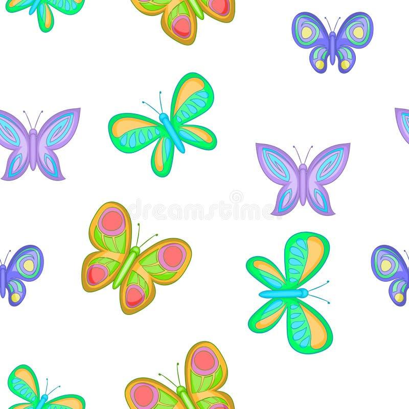 Typer av fjärilsmodellen, tecknad filmstil vektor illustrationer