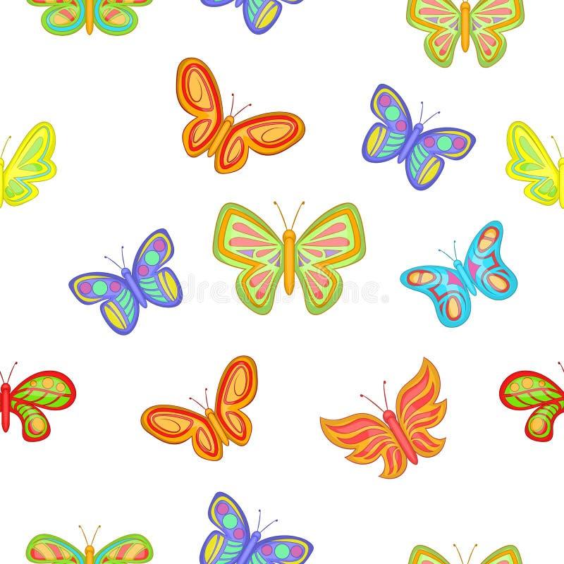 Typer av fjärilsmodellen, tecknad filmstil stock illustrationer