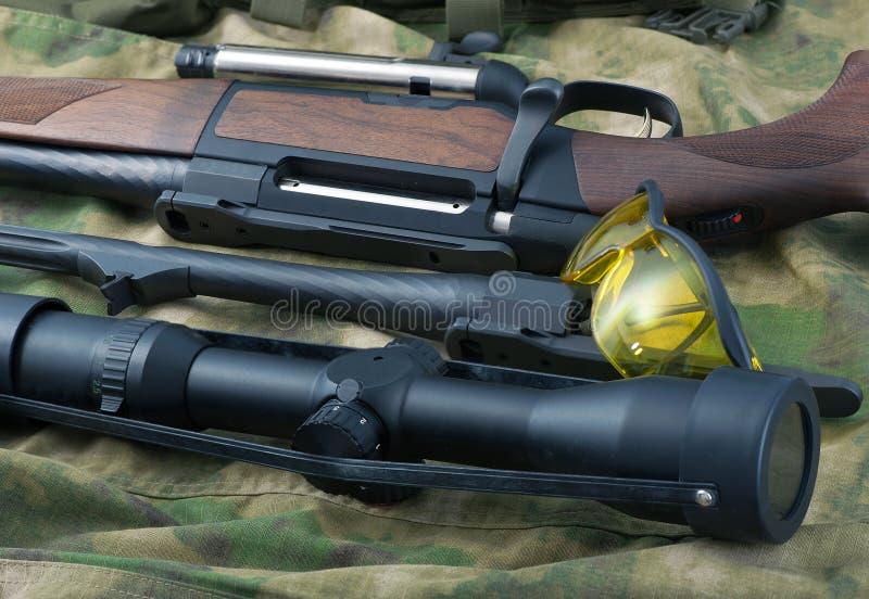 Typer av gevärvapen royaltyfri fotografi