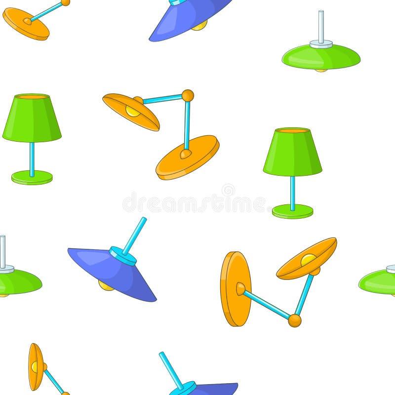Typer av lampor modell, tecknad filmstil stock illustrationer