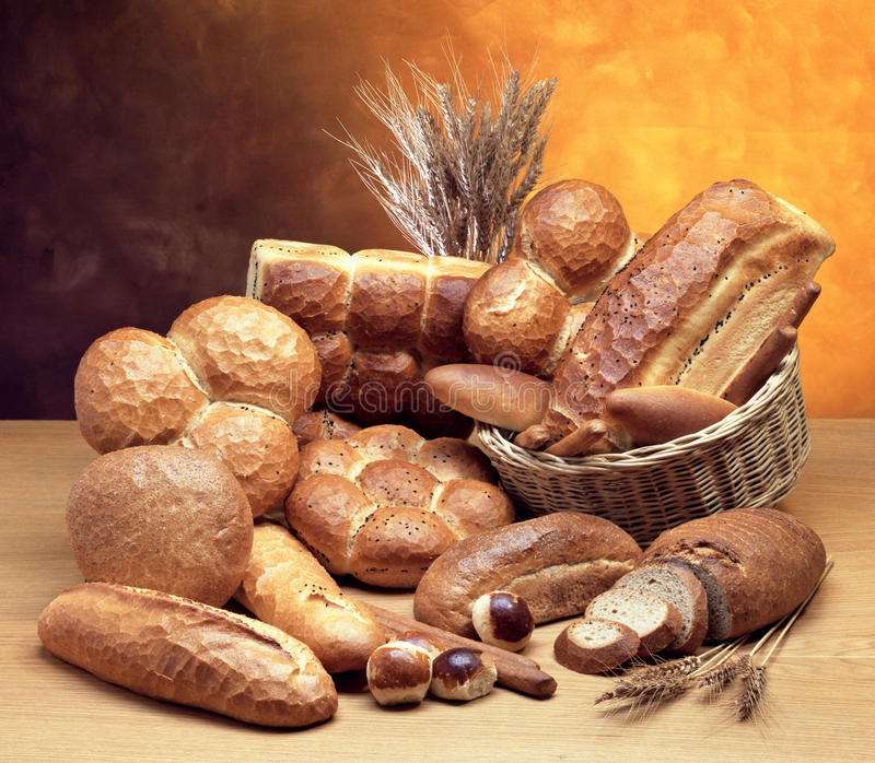 Types of bread and ears. royalty free stock photo