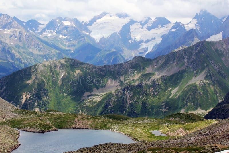 Types of the Caucasus Mountains stock photos