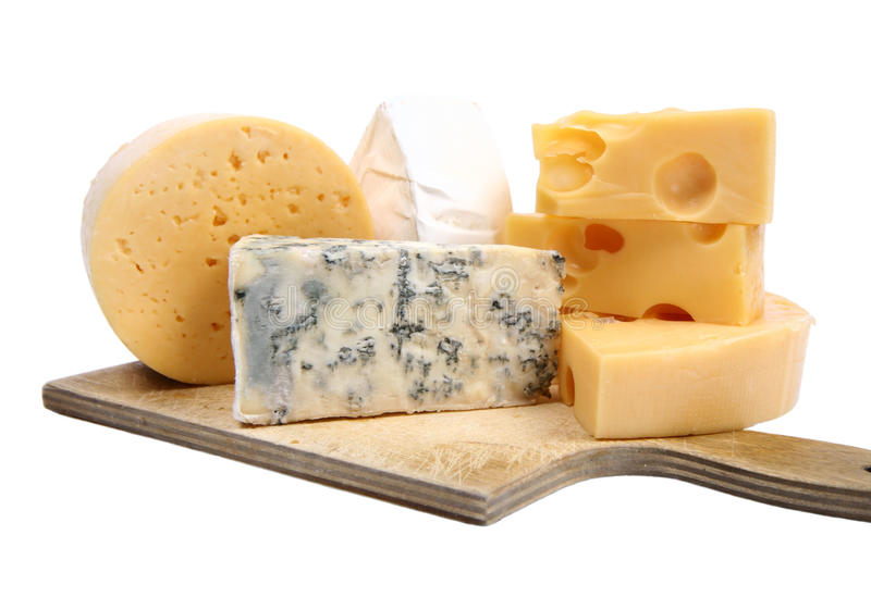 Download Types of  cheese isolated stock image. Image of blue - 14050751