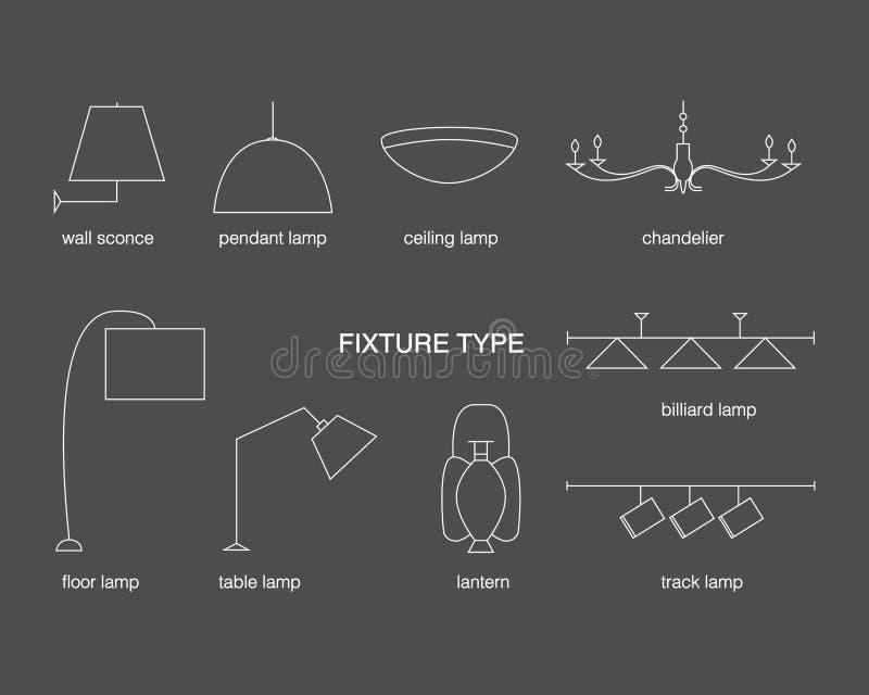 Types de montage de vecteur illustration stock