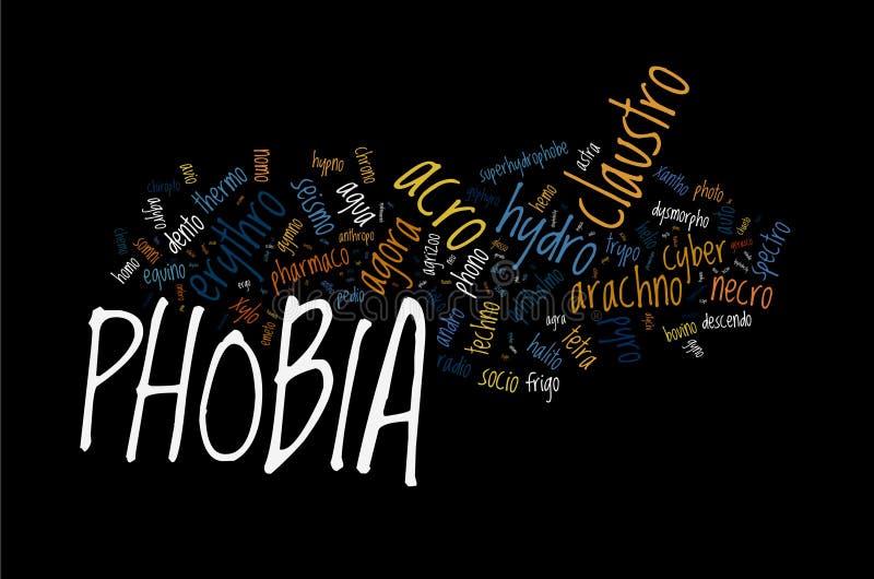 Types de phobie illustration stock