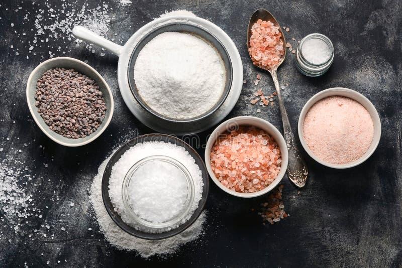 Types de sel photos libres de droits