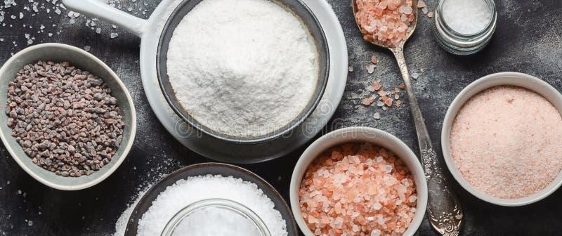 Types de sel photographie stock libre de droits